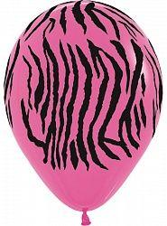 Зебра фуксия латексные шары с гелием
