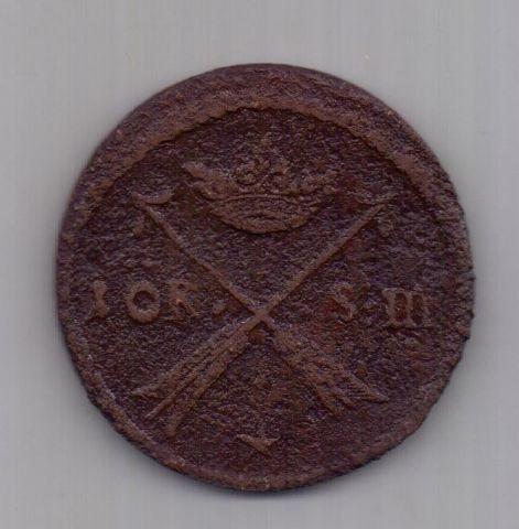 1 оре (эре) 1685 г. редкий год. Швеция