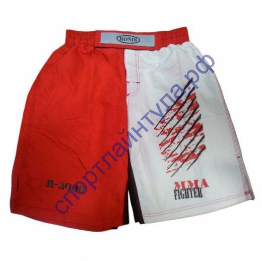 Шорты MMA Ronin красно-белые F893A
