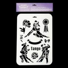 """Трафарет пластик """"Танго"""" 22х31 см (ТМ-26)"""