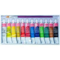 Studio Краски акриловые для ногтей с кисточкой в наборе, 12 шт