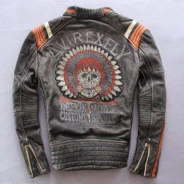 Куртка (кожа) Avirexfly American Motor (цвета в ассортименте)