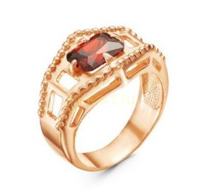 Позолоченное кольцо с гранатом (арт. 788038)