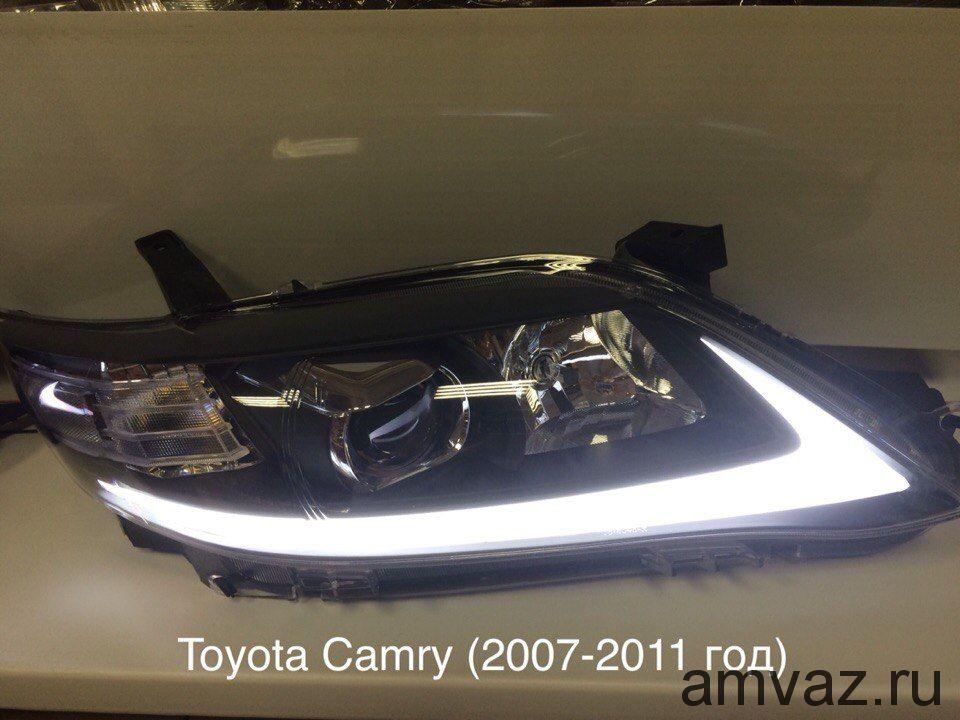 Передние фары YAA-KMR-0231   black ТОЙОТА КАМРИ  2007-2011 комплект