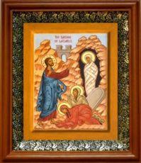 Воскрешение Лазаря (19х22), светлый киот