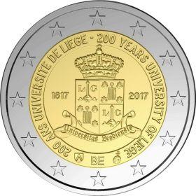200 лет со дня основания университета Льежа  2 евро Бельгия 2017 BU на заказ