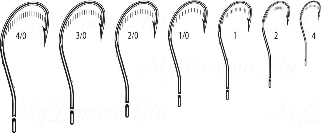 Крючок Cannelle 5104 K № 1/0 уп. 100 шт. (черный никель, кованный, две бородки на цевье, отогнутое жало, ванадиум)