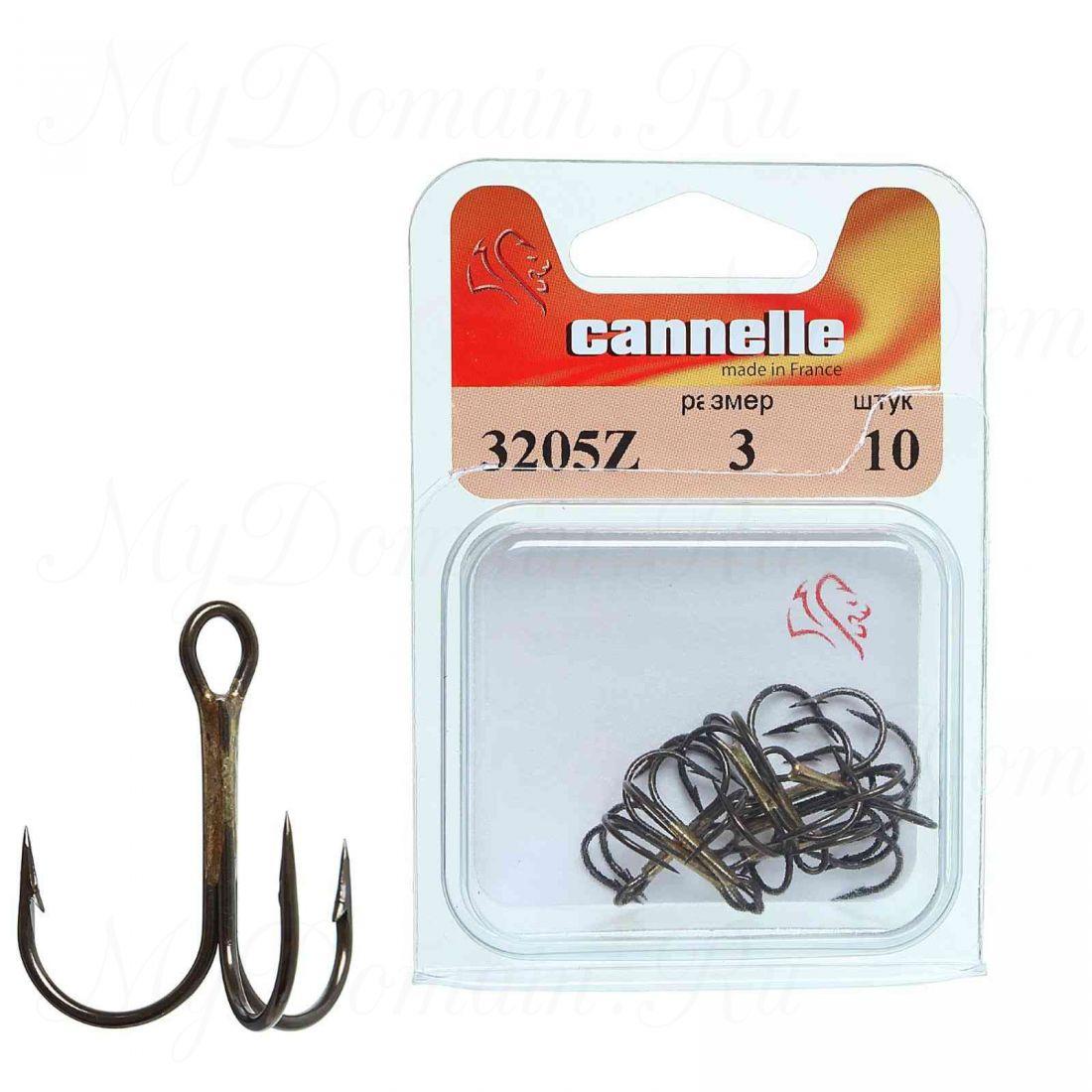 Тройник Cannelle 3205 N № 3/0 уп. 100 шт. (никель,круглый поддев,стандартный тройник,средняя проволока)