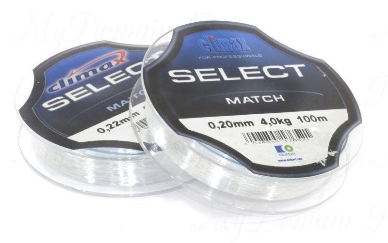 Леска Сlimax Select Match (зеленая) 100 м 0,20 мм 4,0 кг (для поплавочной снасти)