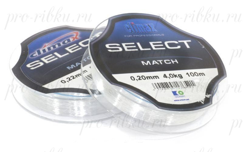 Леска Сlimax Select Match (зеленая) 100 м 0,28 мм 6,8 кг (для поплавочной снасти)