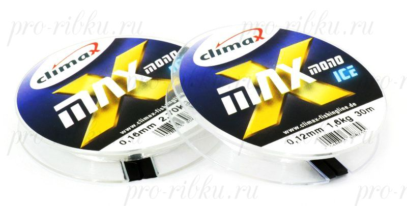 Леска Climax X-Max Mono Ice 0,08 мм 50 м 0,80 кг уп. 10 шт. (прозрачная)