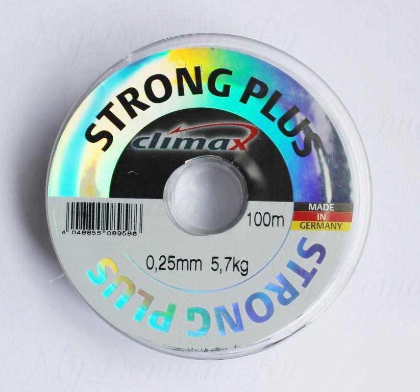 Леска Climax Strong Plus (прозрачная) 100 м 0,22 мм 4,5 кг уп. 10 шт.