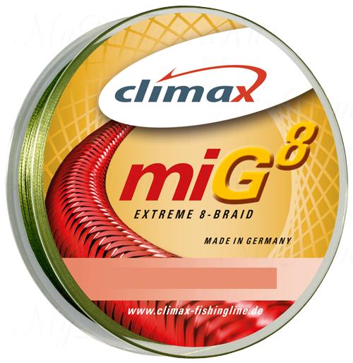Плетёный шнур Climax Mig 8 Extreme Braid 135m 0,18мм 18.2кг (зеленый)