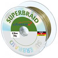 Плетёный шнур Climax Superbraid (серый) 100 м 0,28 мм 22,0 кг (плавающий)