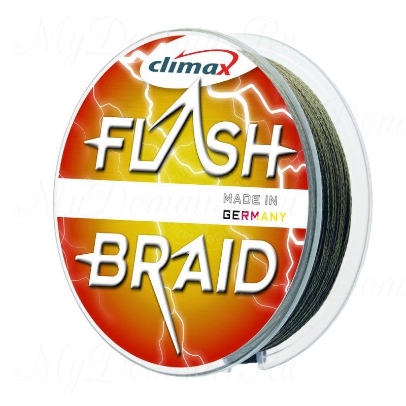 Плетёный шнур Climax FLASH BRAID 0,35 мм 30 кг 100 м цвет: зеленый (плавающий)