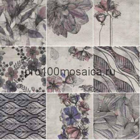PT02431 Mainzu Verona Decor Zen Viola (Mix 9) 20x20 см (MAINZU)