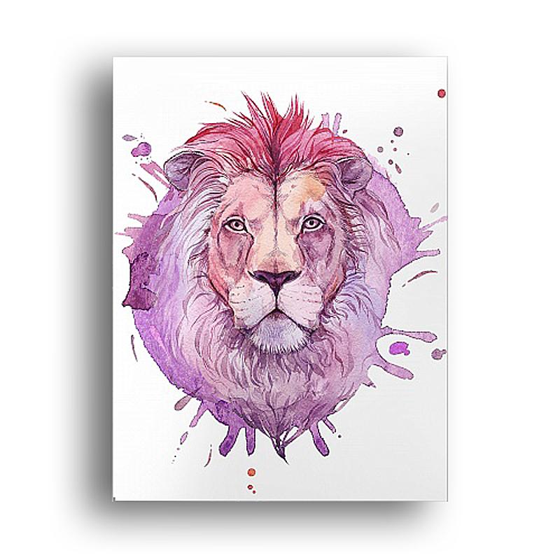 Постер Акварельный лев