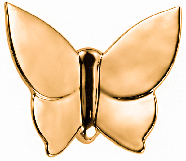 Декоративная бабочка Butterly (золотая)10*5*12
