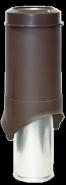 Выход вентиляции Pipe-VT IS 150 коричневый