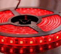 СД лента 14.4Вт SMD5050-60LED 1000Lm 12V IP68 (красный) MS