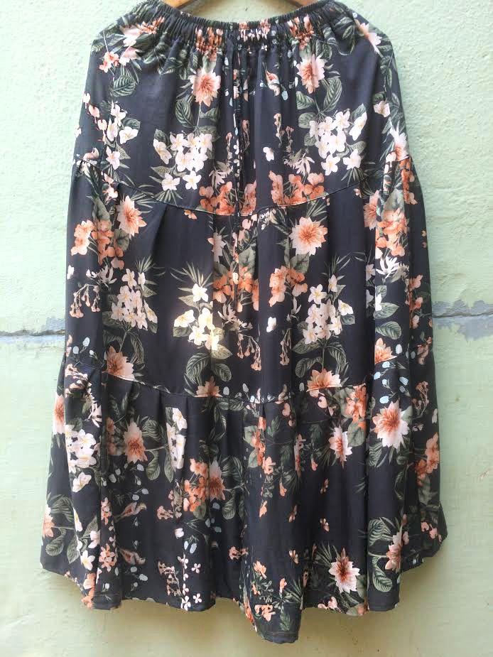 Длинная летняя юбка с цветами (отправка из Индии)