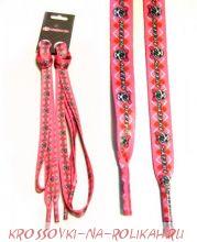 Шнурки Gray Pink Logo Scull