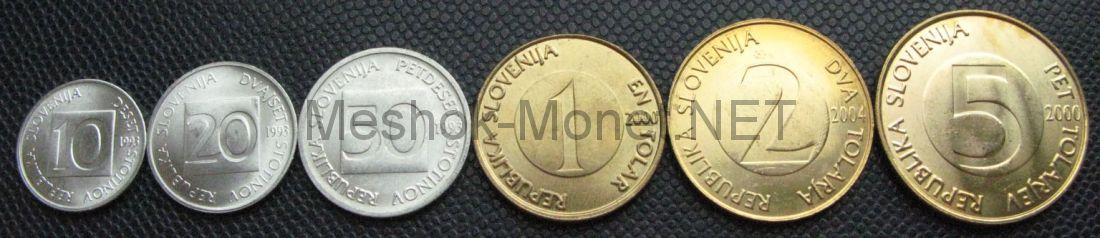 Набор монет Словении (6 монет)