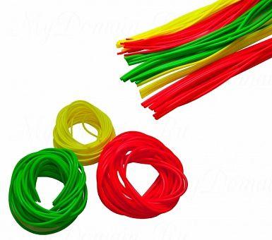 """Кембрик """"Три Кита"""" d=0,8-1,5 флуоресцентный зелёный (20шт*10см)"""
