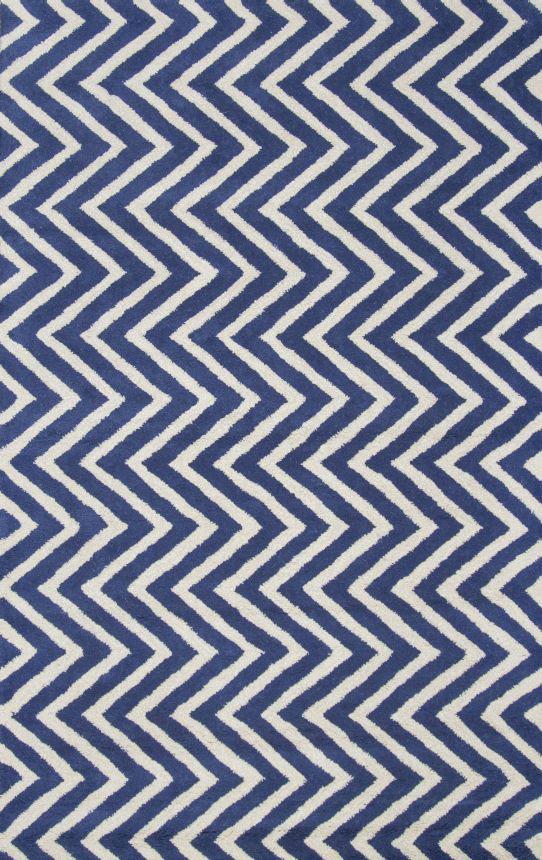 Ковер Zig Zag синий 1,2 1,8 м