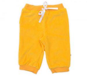 Желтые велюровые брюки