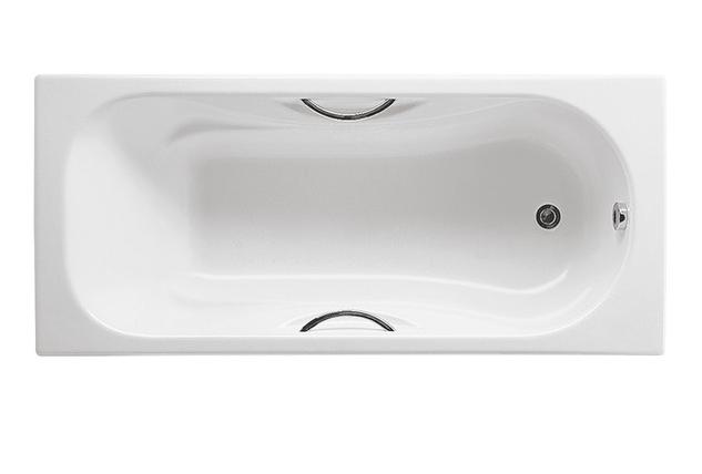 Ванна чугунная Roca Malibu 160x70 с отверстиями для ручек