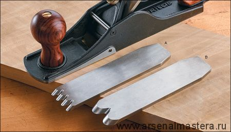 Нож для шерхебеля Veritas 38 мм / А2 с двумя зубцами 05P35.06 М00012380
