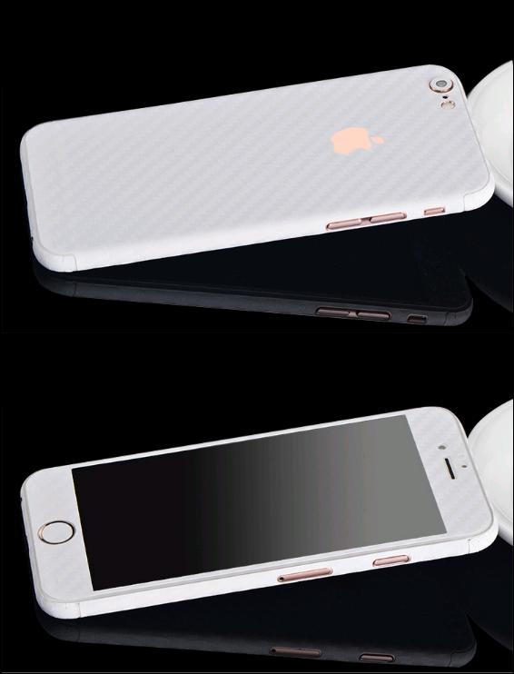 Карбоновая пленка для iphone 6/6s (белая)
