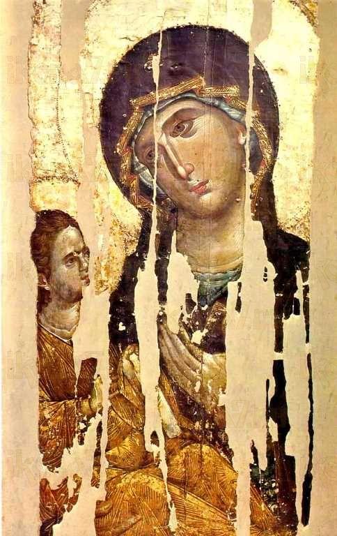 Акафистная Хиландарская икона БМ (копия 13 века)