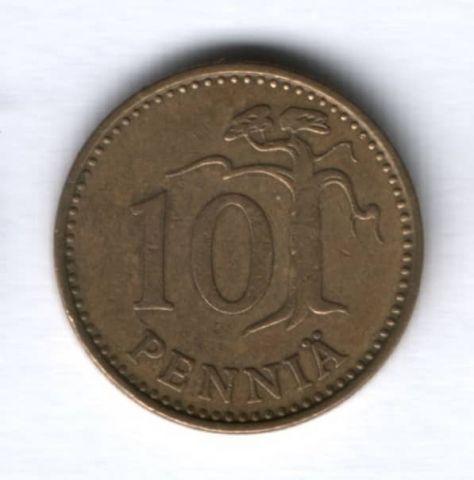 10 пенни 1972 г. Финляндия