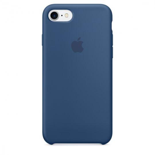 Silicone Case для iPhone 7,iPhone 8 (Глубокий синий)