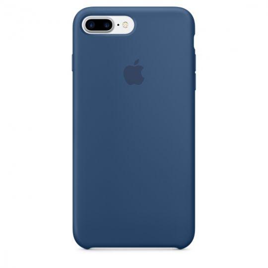Silicone Case для iPhone 7+,iPhone 8+ (Глубокий синий)