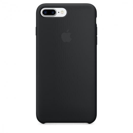 Silicone Case для iPhone 7+,iPhone 8+ (Чёрный)