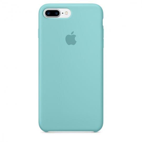 Silicone Case для iPhone 7+,iPhone 8+ (Синее море)