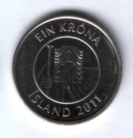1 крона 2011 г. Исландия