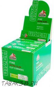 Бумага для самокруток GIZEH зеленая экстра слим, 50 шт,