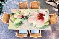 Наклейка на стол - Букет | Купить фотопечать на стол в магазине Интерьерные наклейки