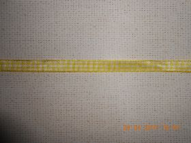 лента декоративная ГАММА желто-белая клетка ширина 10 мм материал полиэстер цена за метр