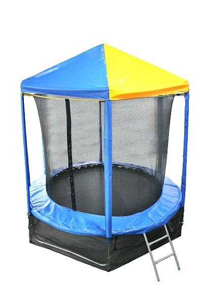 Батут с внутренней защитной сеткой и крышей - Optifit Like 6FT (1,83м)