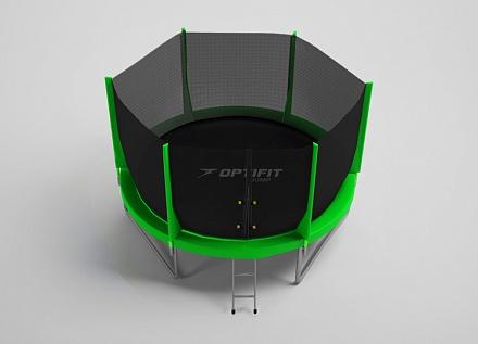 Батут с внутренней защитной сеткой - Optifit Jump 6FT (1,83м), цвет зеленый
