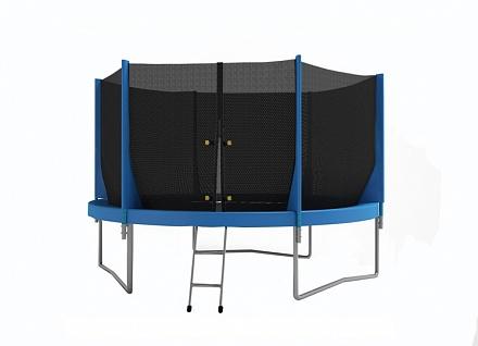Батут с внутренней защитной сеткой - Optifit Jump 8FT (2,44м), цвет синий