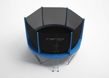 Батут с внутренней защитной сеткой - Optifit Jump 6FT (1,83), цвет синий