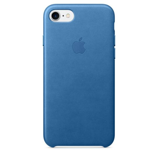 Apple Leather Case для iPhone 7/8 (Синее море)