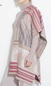 """Роскошный широкий теплый шарф, 100 % драгоценный кашемир """"Кафедральный Собор"""" (расцветка """"пудра"""") CATHEDRAL POWDER, плотность 7"""