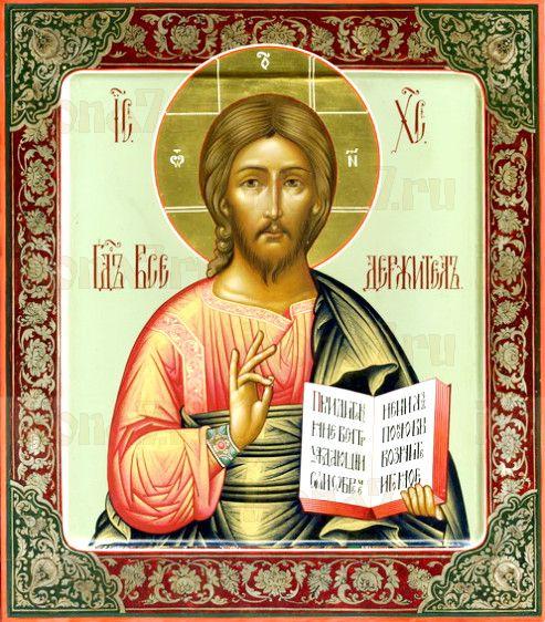 Господь Вседержитель (рукописная икона)
